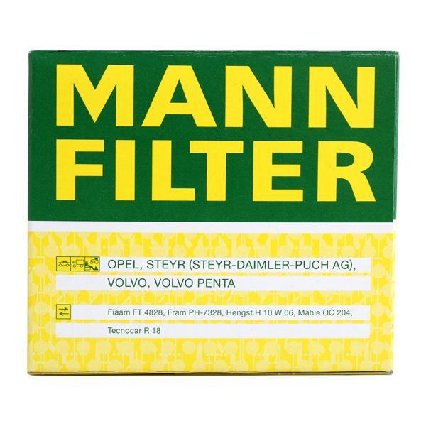 W 917 Oliefilter MANN-FILTER originele kwaliteit