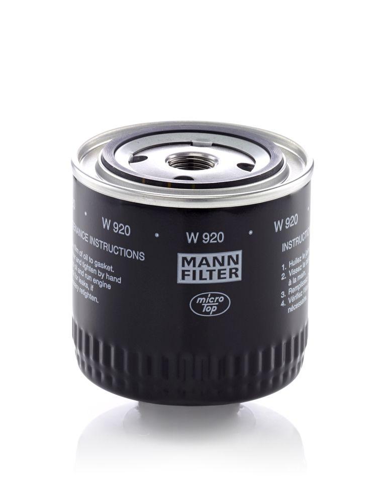 W 920 Motorölfilter MANN-FILTER in Original Qualität