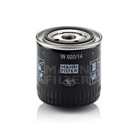 Olejový filter W 920/14 NISSAN 280 ZX,ZXT v zľave – kupujte hneď!