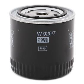 W920/7 Ölfilter, Schaltgetriebe MANN-FILTER Erfahrung