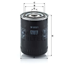 Filtru ulei W 933/1 pentru NISSAN URVAN la preț mic — cumpărați acum!