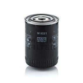 W 933/1 MANN-FILTER mit einem Rücklaufsperrventil Innendurchmesser 2: 62mm, Ø: 93mm, Außendurchmesser 2: 71mm, Höhe: 130mm Ölfilter W 933/1 günstig kaufen