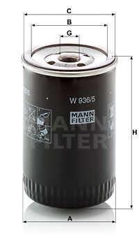 W936/5 Oil Filter MANN-FILTER - Experience and discount prices