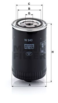 W 940 Motorölfilter MANN-FILTER in Original Qualität