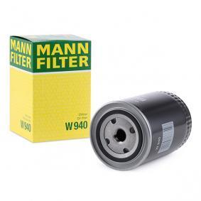 W 940 MANN-FILTER mit einem Rücklaufsperrventil Innendurchmesser 2: 62mm, Ø: 93mm, Außendurchmesser 2: 71mm, Höhe: 142mm Ölfilter W 940
