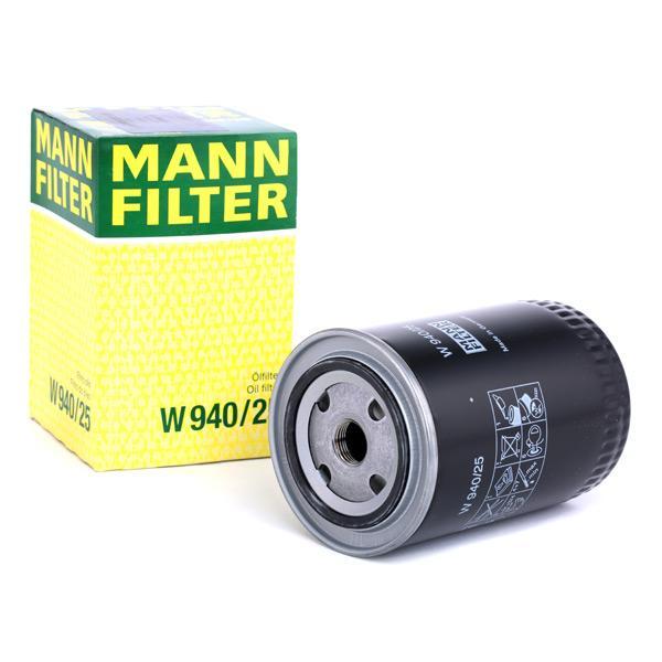 MANN-FILTER | Alyvos filtras W 940/25