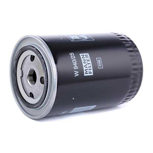 W94025 Alyvos filtras MANN-FILTER W 940/25 Platus pasirinkimas — didelės nuolaidos