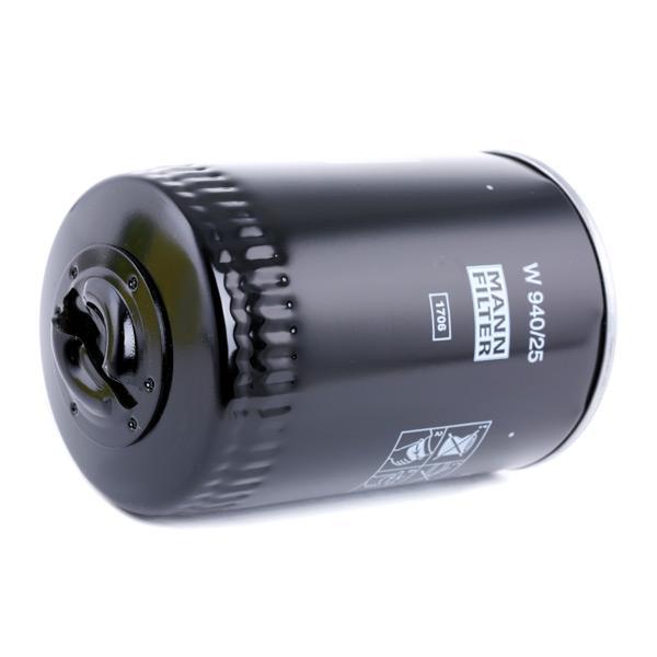 W 940/25 Alyvos filtras MANN-FILTER - Pigus kokybiški produktai