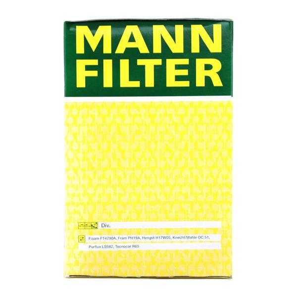W 940/25 Alyvos filtras MANN-FILTER originalios kokybiškos