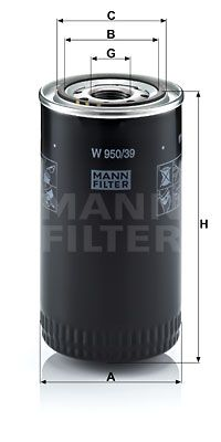 MANN-FILTER Filtr oleju do SCANIA - numer produktu: W 950/39