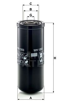 OE Original Getriebe Filter WH 1263 MANN-FILTER