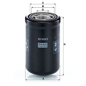 MANN-FILTER Filtro idraulico, Cambio automatico WH 945/2 acquisti con uno sconto del 30%