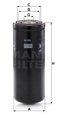 Köp MANN-FILTER Hydraulikfilter, automatväxel WH 980 lastbil