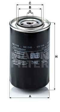 WK 1149 MANN-FILTER Fuel filter for IVECO EuroTrakker - buy now