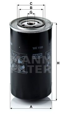WK 1168 MANN-FILTER Fuel filter for IVECO P/PA - buy now