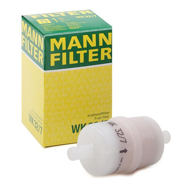 WK 32/7 MANN-FILTER Filtr zabudovaný do potrubí Výška: 100mm Palivovy filtr WK 32/7 kupte si levně