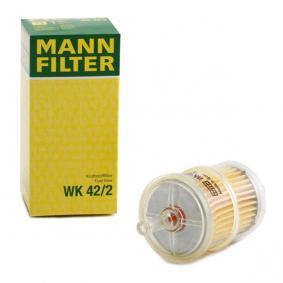 WK 42/2 MANN-FILTER Höhe: 108mm Kraftstofffilter WK 42/2 günstig kaufen