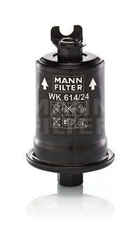MANN-FILTER: Original Dieselfilter WK 614/24 x (Höhe: 122mm)
