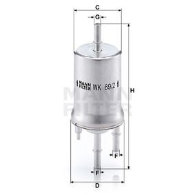 WK 69/2 Palivovy filtr MANN-FILTER - Levné značkové produkty