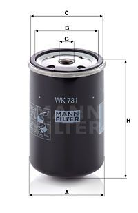 WK 731 MANN-FILTER Fuel filter for IVECO EuroTech MT - buy now