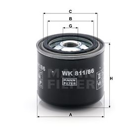 WK 811/86 Kraftstofffilter MANN-FILTER in Original Qualität