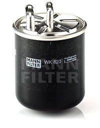 MANN-FILTER: Original Benzinfilter WK 820 (Höhe: 100mm)