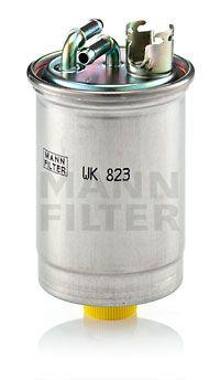 WK 823 MANN-FILTER Filtr zabudovaný do potrubí Výška: 133mm Palivovy filtr WK 823 kupte si levně