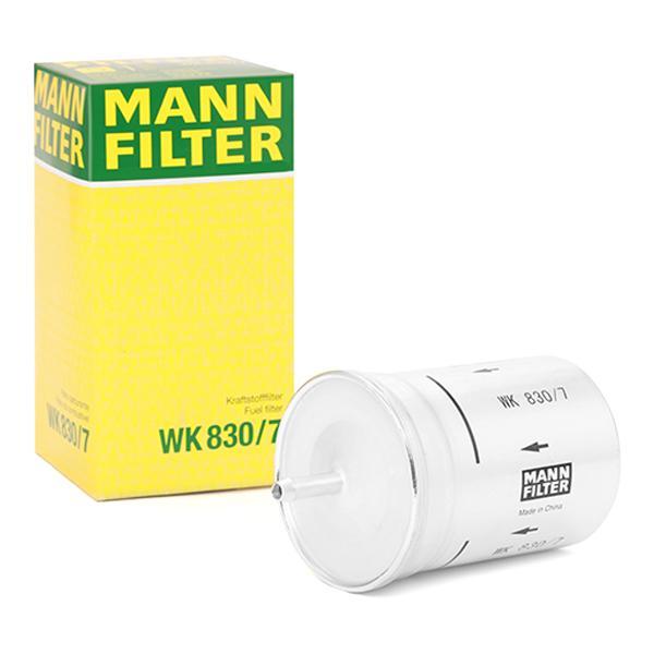 WK8307 Palivovy filtr MANN-FILTER WK 830/7 - Obrovský výběr — ještě větší slevy