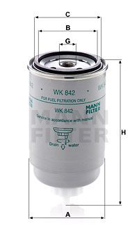 WK842 Inline fuel filter MANN-FILTER - Experience and discount prices