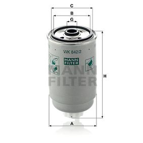 WK 842/2 Kraftstofffilter MANN-FILTER - Immer wieder aktuelle Rabatt-Aktionen