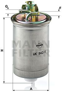 WK 842/4 Spritfilter MANN-FILTER - Markenprodukte billig