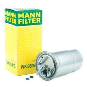 Kjøp WK 853/3 x MANN-FILTER med tetning Høyde: 177mm Drivstoffilter WK 853/3 x Ikke kostbar