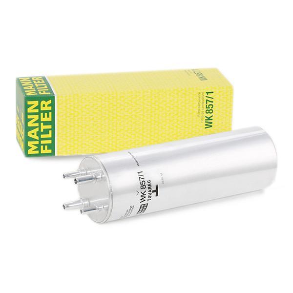 MANN-FILTER: Original Benzinfilter WK 857/1 (Höhe: 276mm)