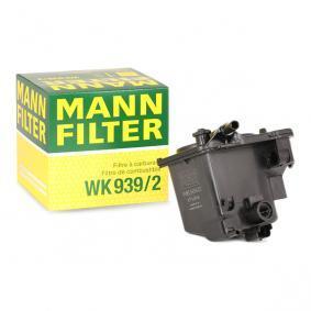 WK 939/2 MANN-FILTER Höhe: 121mm Kraftstofffilter WK 939/2 günstig kaufen