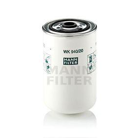 MANN-FILTER Filtro carburante WK 940/20 acquisti con uno sconto del 31%