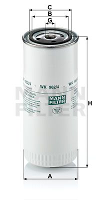 WK 962/4 MANN-FILTER Kraftstofffilter für DAF F 2500 jetzt kaufen