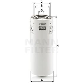 MANN-FILTER Palivovy filtr WK 980/1 - nakupujte s 33% slevou
