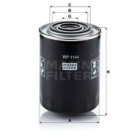 WP 1144 Ölfilter MANN-FILTER - Markenprodukte billig