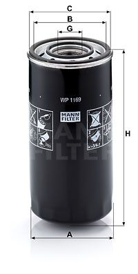 WP 1169 MANN-FILTER Filtro olio per IVECO TurboStar acquisti adesso