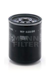 WP 920/80 MANN-FILTER Anschraubfilter, mit einem Rücklaufsperrventil Innendurchmesser 2: 80mm, Innendurchmesser 2: 80mm, Ø: 93mm, Außendurchmesser 2: 88mm, Höhe: 121mm Ölfilter WP 920/80 günstig kaufen