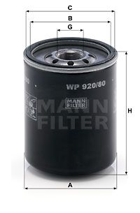 Achetez des Filtre à huile MANN-FILTER WP 920/80 à prix modérés