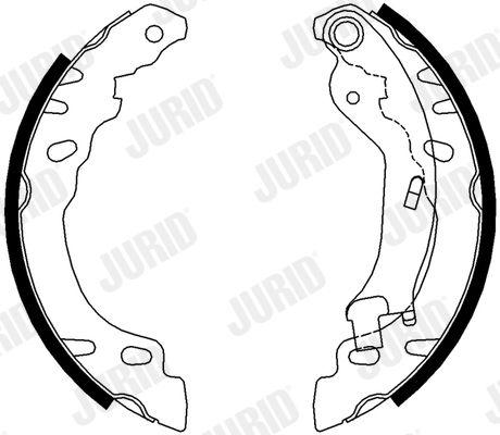 Original FIAT Bremsbacken für Trommelbremse 362611J