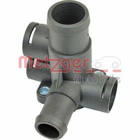 4010076 METZGER Zylinderkopf, hinten, links, mit Dichtung, ohne Sensor Kühlmittelflansch 4010076 günstig kaufen