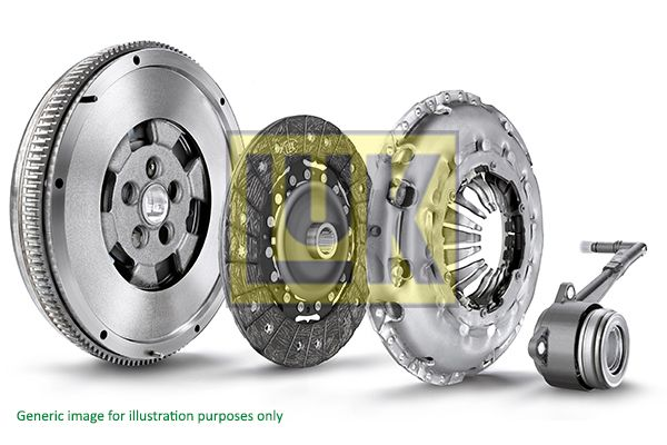 Mercedes A-Class 2014 Clutch kit LuK 600 0073 00: with central slave cylinder, without pilot bearing, Dual-mass flywheel with friction control plate, Requires special tools for mounting, with flywheel, with screw set