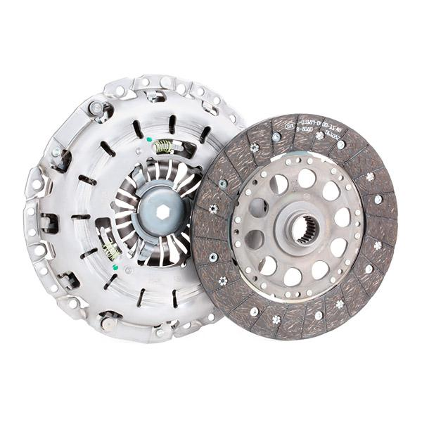 BMW 3 Series 2015 Clutch set LuK 624 3158 10: for engines with dual-mass flywheel, Check and replace dual-mass flywheel if necessary., Requires special tools for mounting, with clutch release bearing, with release fork
