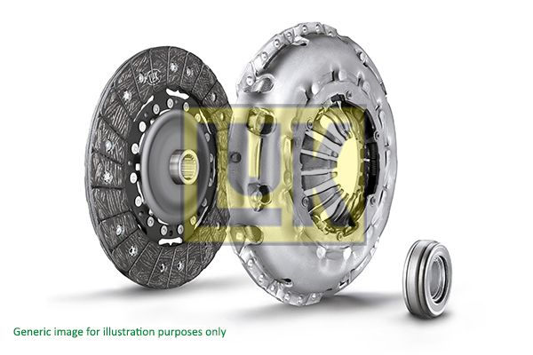 BMW 6 Series 2014 Clutch set LuK 624 3174 00: for engines with dual-mass flywheel, Check and replace dual-mass flywheel if necessary., Requires special tools for mounting, with clutch release bearing