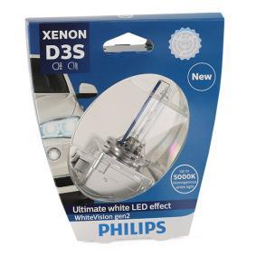 Achat de D3S PHILIPS Xenon WhiteVision gen2 35W, D3S (lampe à décharge), 42V Ampoule, projecteur longue portée 42403WHV2S1 pas chères