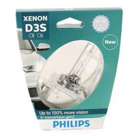 Achat de D3S PHILIPS Xenon X-tremeVision gen2 35W, D3S (lampe à décharge), 42V Ampoule, projecteur longue portée 42403XV2S1 pas chères