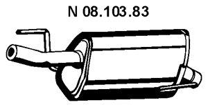 Original MINI Endschalldämpfer 08.103.83