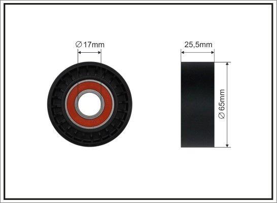 434-00 CAFFARO Ø: 65mm Breite: 25,5mm Spannrolle, Keilrippenriemen 434-00 günstig kaufen